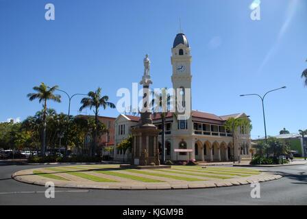 Bundaberg, Australia - July 17, 2017: Post Office and clock tower - Stock Photo