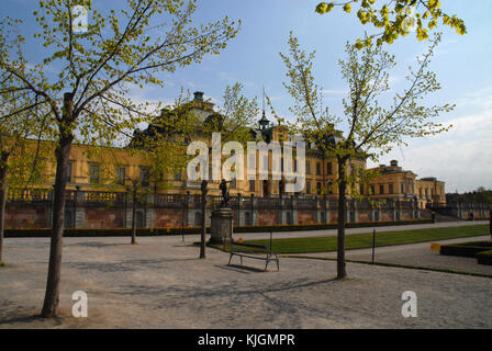 Trees in front of Drottningholm Palace, Stockholm - Stock Photo