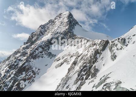 View of the snowbound summit of Großglockner (alps), Austria - Stock Photo