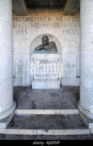 Cape Town, South Africa - March 25, 2012: The Rhodes Memorial monument in Cape Town, South Africa, on Table Mountain, - Stock Photo