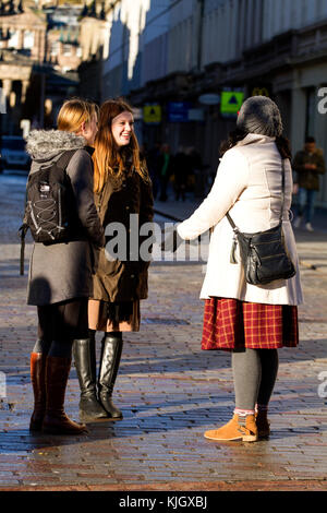Dundee, Tayside, Scotland, UK. 23rd November, 2017. Two Mormon women from The Church of Jesus Christ of Latter-day - Stock Photo