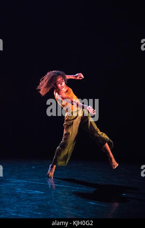 London, UK. 23rd Nov, 2017. Gianluca Vincentini presents Wild Card at Sadler's Wells. In the photo Extract from - Stock Photo
