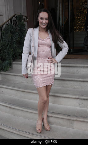 London, UK. 24th November, 2017. Frankie Seaman seen at the Langham Hotel in London Credit: RM Press/Alamy Live News Stock Photo