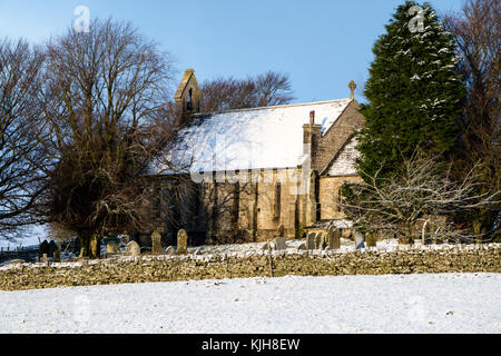 Forest-in-Teesdale, County Durham, UK. Saturday 25th November 2017. UK Weather.  St James the Less Church in Upper - Stock Photo