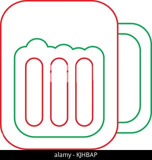 glass beer drink liquor beverage icon - Stock Photo