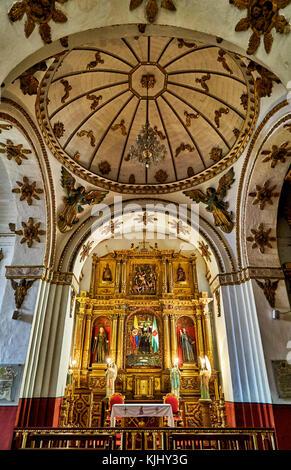 interior shot of Iglesia San Agustin, Bogota, Colombia, South America - Stock Photo