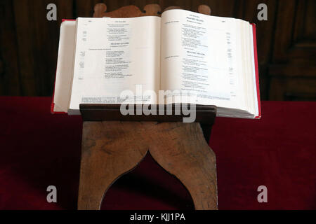 Auxerre cathedral dedicated to Saint Stephan.  The Bible.  France. - Stock Photo