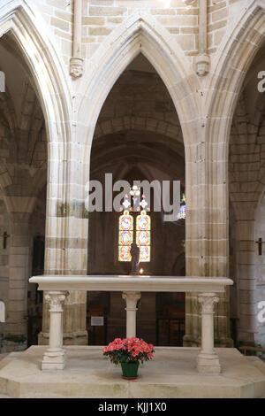 Saint-Pere church.  Gothic architecture. The choir.  France. - Stock Photo