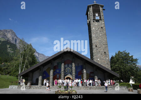 Notre-Dame de Toute Grace du Plateau d'Assy (Our Lady Full of Grace of the Plateau d'Assy).  France. - Stock Photo