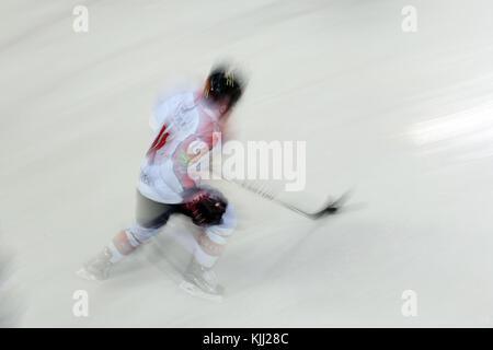 Ice Hockey match.  Mont-Blanc vs Amiens.  France. - Stock Photo