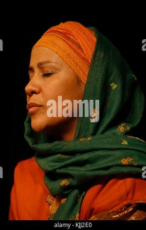 Mawlid (Prophet Muhammad's birthday) celebration in Paris, France. Naqshbandi sufi muslim. - Stock Photo
