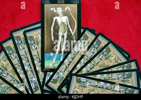 Tarot cards.  Death. - Stock Photo