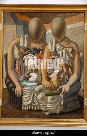 Museum of Modern Art, Rome. Giorgio de Chirico.  Gli archeologi. 1927.  Cette image n'est pas tombŽe dans le domaine - Stock Photo