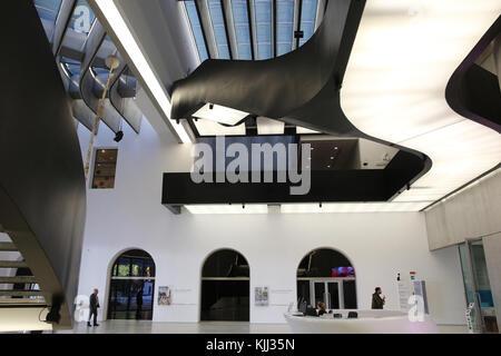 MAXXI, National museum of 21st century Art, Rome. Italy. - Stock Photo