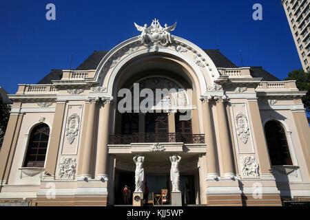 Colonial architecture.  Municipal Theatre of Ho Chi Minh City once known as the Saigon Opera. Ho Chi Minh City. - Stock Photo