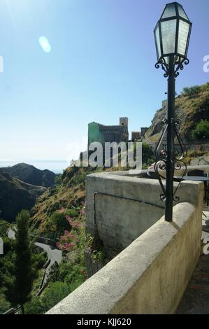The village of Savoca, Messina Province Sicily - Stock Photo