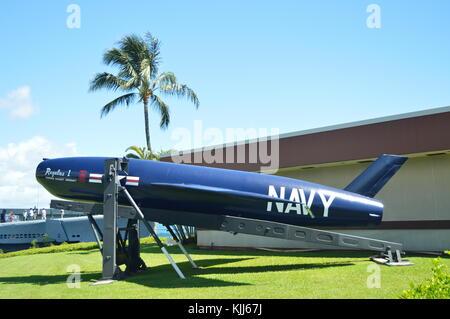 Torpedo Of The US Navy At The Memorial USS Arizona. Oahu, Hawaii, USA, EEUU.. - Stock Photo