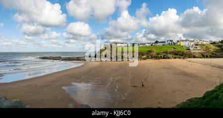 Aberporth Beach, Cardiganshire, West Wales - Stock Photo