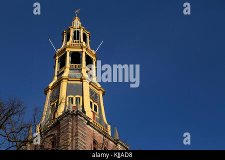 The tower of the A Church (A-Kerk) Groningen, the Netherlands. Sometimes known as the Aa Church, it is dedicated - Stock Photo