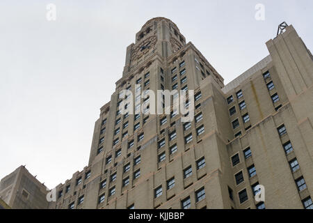BROOKLYN, NEW YORK - MARCH 24, 2013: Williamsburgh Savings Bank Tower in New York. Built 1927-29 in a modernized - Stock Photo