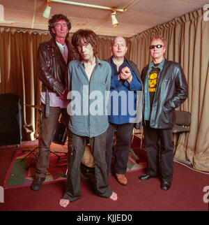 The Only Ones, An English rock band photographed in their rehearsal studios after reforming in 2007, London, England, - Stock Photo