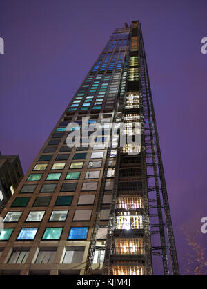 NEW YORK, NEW YORK - JANUARY 4, 2015: 432 Park Avenue, New York under construction. One of the tallest residential - Stock Photo
