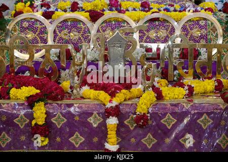 Bangla Sahib gurudwara, built in 1783. Main shrine. Delhi.  India. - Stock Photo