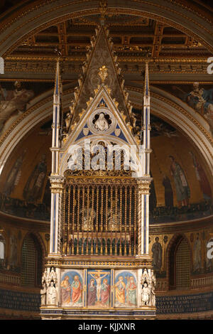 Inside St John in Laterano's church, Rome. Italy. - Stock Photo
