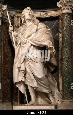 St John in Laterano's church, Rome. St James statue. Italy. - Stock Photo