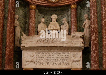 St John in Laterano's church, Rome. Cardinal's tomb. Italy. - Stock Photo
