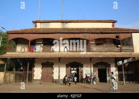 Louga disused railway station. Senegal. - Stock Photo