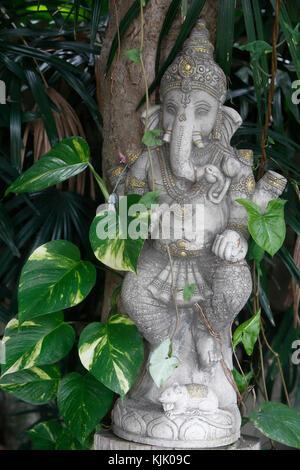 Ganesh statue in Wat Duang Dee, Chiang Mai. Thailand. - Stock Photo