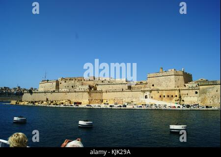 Fort St Angelo Valletta Malta - Stock Photo