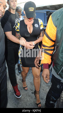 LOS ANGELES, CA - MAY 22: Amber Rose out and about in Los Angeles on May 22, 2016 in Los Angeles, California.  People: - Stock Photo