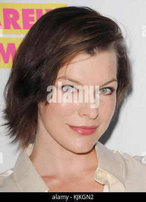 WEST HOLLYWOOD, CA - JUNE 14:  Milla Jovovich arrives at the premiere for VH1's 'Barely Famous' Season 2 on June - Stock Photo
