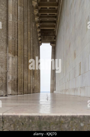 colonnade at the Walhalla memorial near Regensburg in Bavaria, Gerrmany - Stock Photo