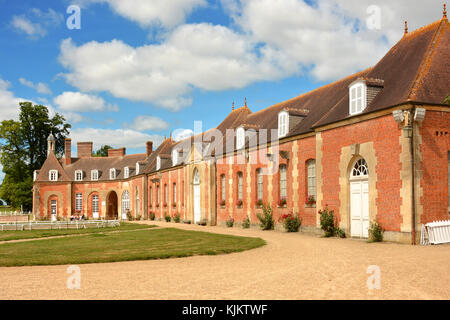 Haras (stud farm) national du Pin, created in 1715. France. - Stock Photo
