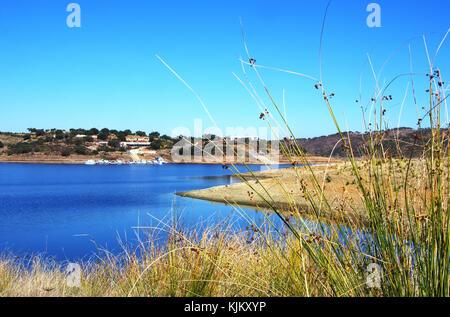 Landscape of Amieira marina, Alentejo, Portugal - Stock Photo