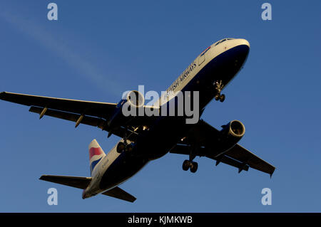 final-approach landing - Stock Photo