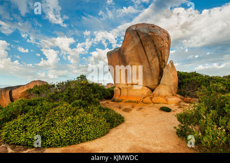 Whistling Rock in Cape Le Grand National Park. - Stock Photo