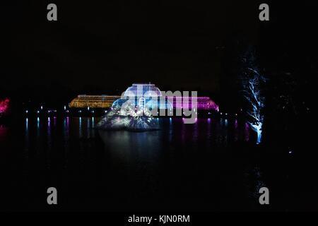 Kew Gardens at Christmas - Stock Photo