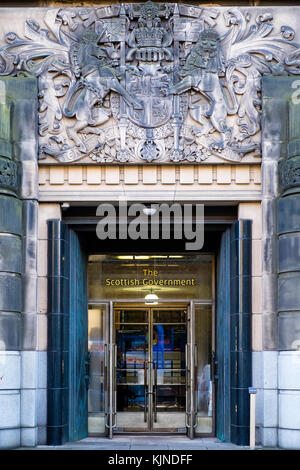 Exterior of St Andrews House home of the Scottish Government on Calton Hill inn Edinburgh, Scotland, United Kingdom. - Stock Photo