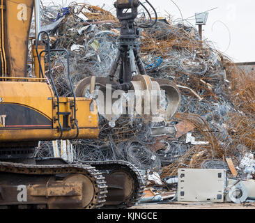 Houston, Texas - Scrap metal for recycling at CMC Commercial Metals