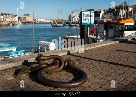 Weymouth Harbour (England, UK) - Stock Photo
