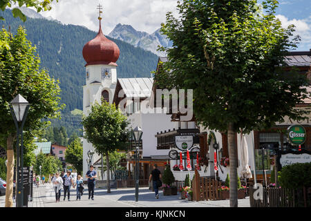 St Anton am Arlberg in summer, Austria - Stock Photo