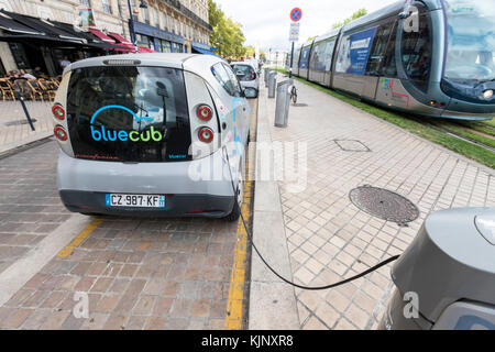 Bluecub electric car, Bolloré Bluecar a four-seat, three-door electric car by Bolloré, designed by Pininfarina, - Stock Photo