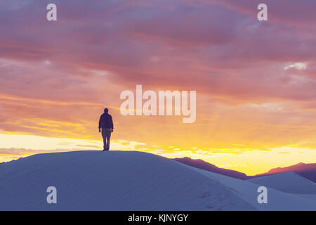 Tent in White Dunes, USA - Stock Photo