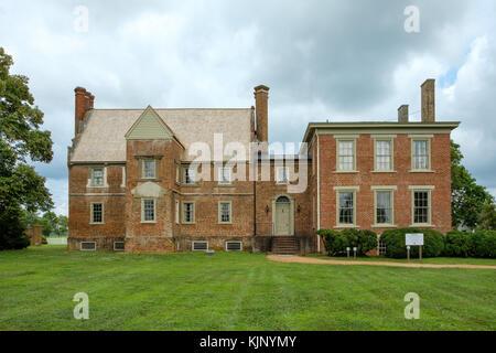 Bacons Castle, 465 Bacons Castle Trail, Surry, Virginia - Stock Photo