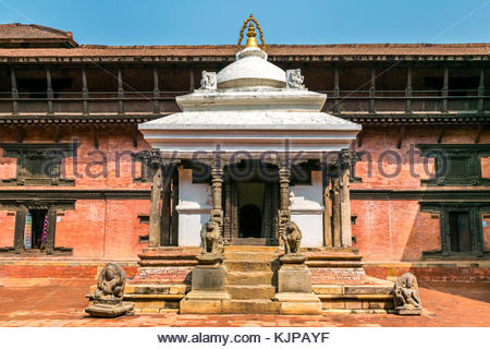 traditional building of old architecture nepalese in kathmandu. nepal - Stock Photo