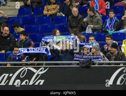Barcelona, Spain. 27th Nov, 2017. during the match between RCD Espanyol against Getafe, for the round 13 of the - Stock Photo